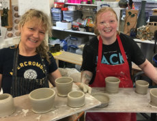 proud first-time potters